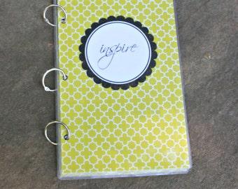 Agenda, 6 x 9 Notebook, Three Ring Notebook,  Binder, Planner, Organizer Notebook, Student Planner, Recipe Binder, Planner Cover  INSPIRE