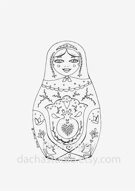 russian folk art coloring pages - photo#41