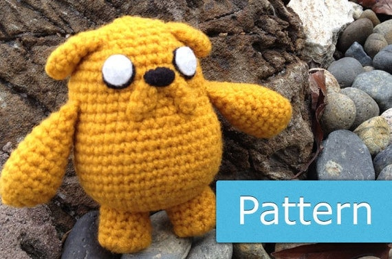 Adventure Time Jake Amigurumi Pattern : Adventure Time Jake: PDF Amigurumi Crochet by GeekChicurumi