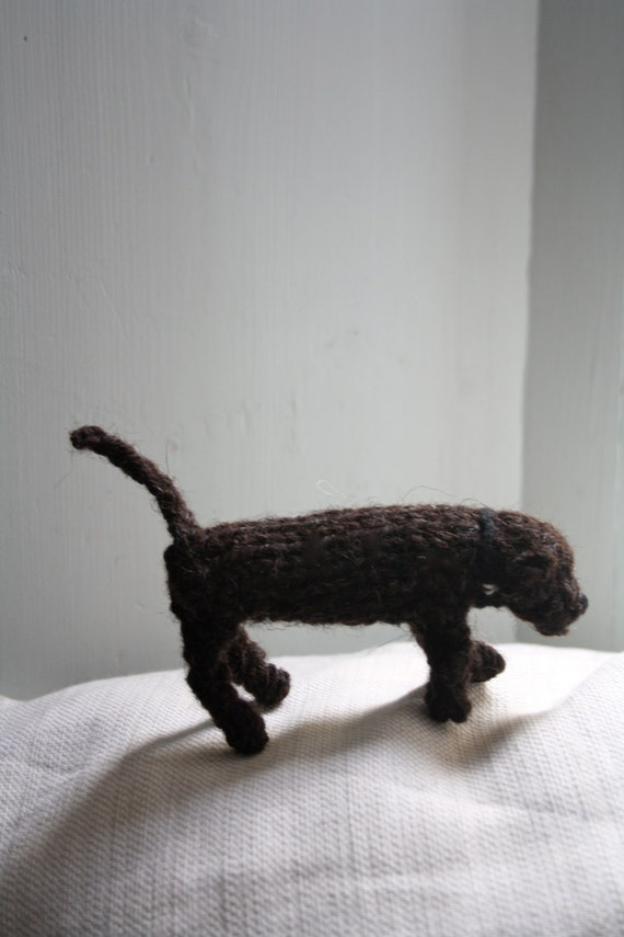 Knitted dog, Chocolate Labrador puppy