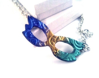 Mardi Gras Carnival mask necklace