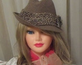 Woman's Formal Fedora, Hat Glamor Steampunk, Jewelry Adorned Derby Hat, RESERVED for Shoot.