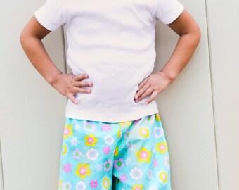Cutie Pie Ruffle Pants, Capris, and Shorts: Ruffle Pants PDF Pattern, Ruffle Capris PDF Pattern, Ruffle Shorts PDF Pattern