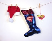 Superman Christmas Stocking-Holiday Stocking for men