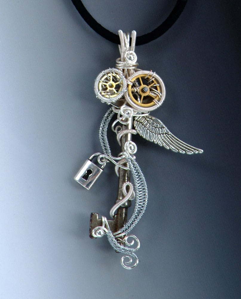 Heart With Wings Necklace Pendant