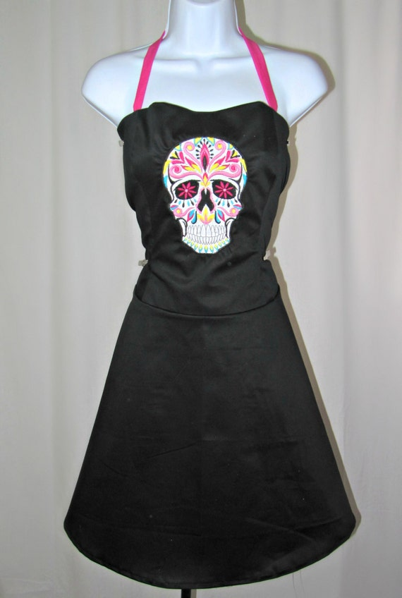 Day of the Dead sugar skull pin up dress