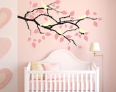 SALE! Tree Branch Vinyl Decal Sticker Wall Art Birds and Falling Leaves