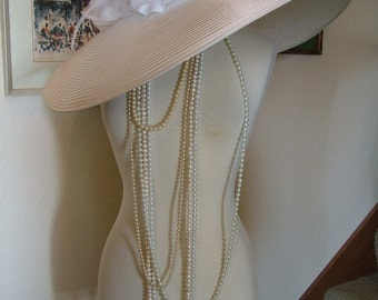 Huge wedding hat 1920s Great gadsby hat boardwalk empire inspired vintage style hat