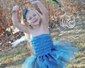 Aqua Blue and Chocolate Brown Tutu