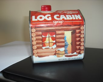 Vintage Log Cabin 100th Anniversary Syrup Tin-Advertising Tin, Collectors Tin, Kitchenware