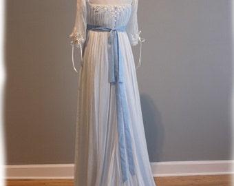 Edwardian Wedding Dress - Blue Wedding Dress - Custom Made - Tessa Gown