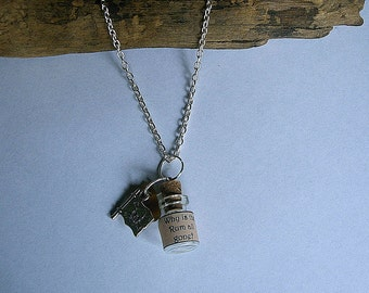 Why is the Rum all gone necklace. Pirates of the Caribbean inspired jewelry