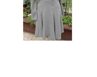 Vintage Houndstooth Dress Size 3/4