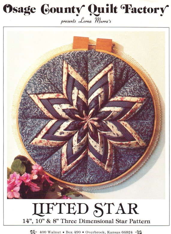 Osage County Quilt Factory Lifted Star Three By Cloescloset