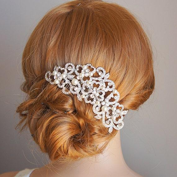 Victorian Style Wedding Hair: PERRINE Victorian Style Wedding Hair Comb Ivory By