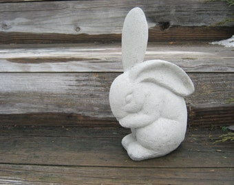 Rabbit Statue, Concrete Garden Rabbits, Garden Decor, Cement Rabbit Statue, Bunny Statue, Concrete Garden Statues, Bunny Rabbit Figure, Art
