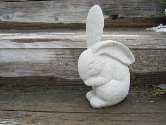 rabbit statue concrete garden rabbits garden by westwindhomegarden, Gardens/