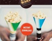 Star Wars Light Saber Treat Cones - INSTANT DOWNLOAD -  Party Favor