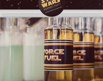 Star Wars Bottle Wraps - Party Printable Decorations - PERSONALIZED