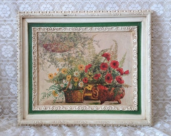 Cottage Wall Hanging Floral Print Picture