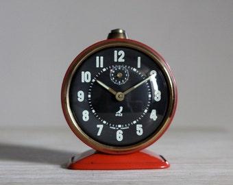 Vintage French Jaz Alarm Clock  50's Retro/ Mid Century Upcycled