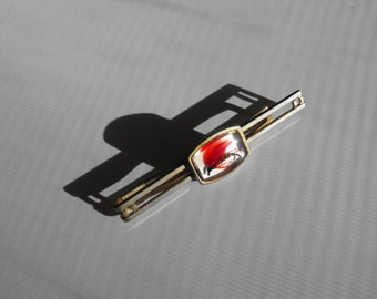 Vintage Anson Lucite Encased Fishing Fly Tie Clip