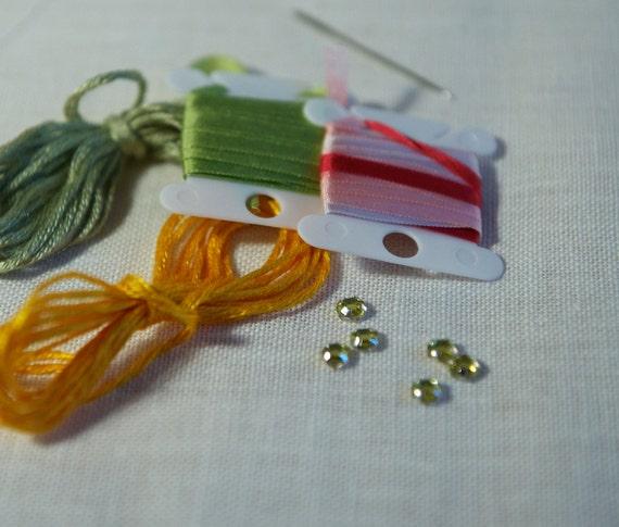 Silk ribbon embroidery kit beginner
