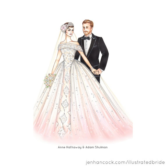 Custom Wedding Portrait One 8.5 X 11 Illustration