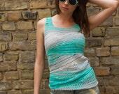 PDF Crochet Pattern - Slide Tank Top crochet pattern- Womens Girls Summer sleeveless tank top crochet pattern