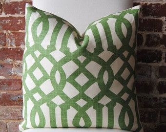 SALE - Last One. Imperial Trellis - Schumacher - Treillage / Ivory - Pillow Cover - Designer Pillow - Decorative Pillow - Throw Pillow