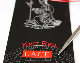 ChiaoGoo RED Lace Circular Knitting Needles Sizes US 5 - 8  // All Lengths //