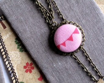 Happy garland necklace. Pendant charm. Gift idea for girl friend, mother or sister. Christmas stockings.