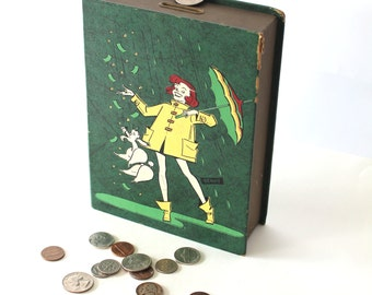 Vintage Penny Bank to save for a Rainy Day