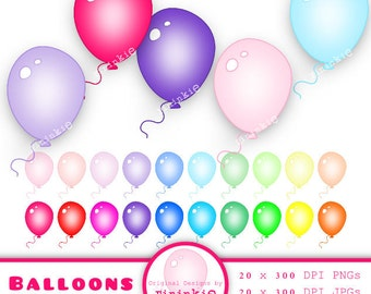 Balloon Clipart, Clip Art Balloon, Birthday Clip Art, Party Clip Art, Birthday Graphic Download, Instant download, Commercial U