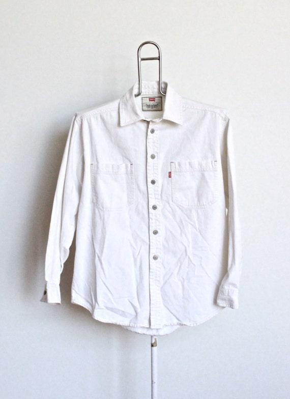 Levis White Denim Shirt Levis Denim Shirt Mens Size