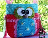 Crochet pattern - Owl purse by VendulkaM, digital pattern, DIY,Pdf