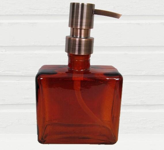 Amber Soap Dispenser Rustic Bathroom Decor By Lovesoldstuff