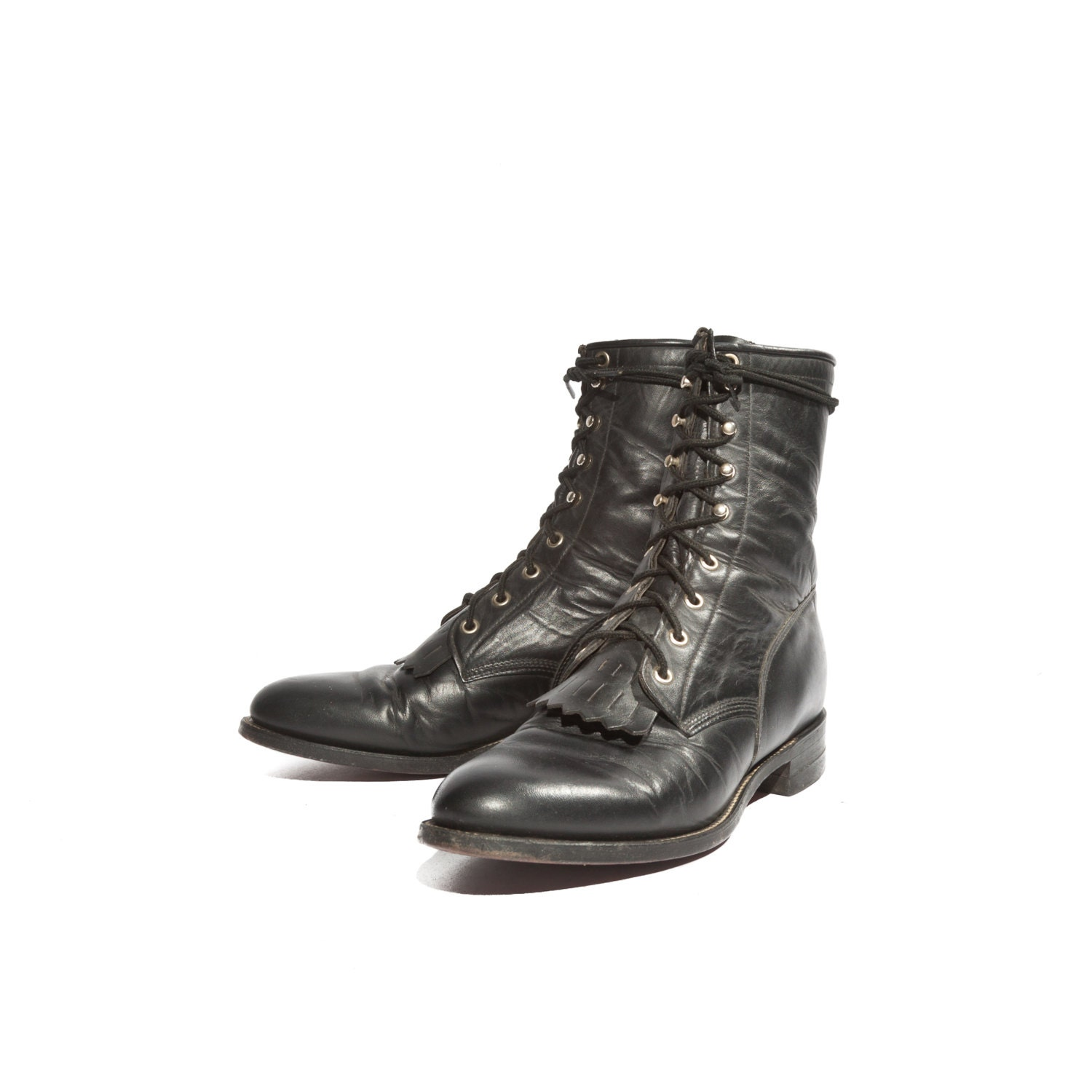 s roper boot lace up western style with removable
