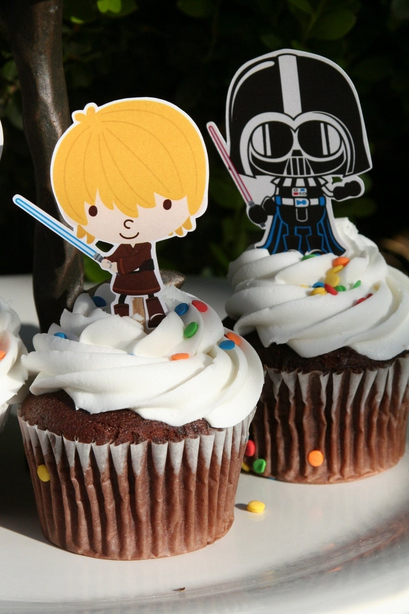 Star Wars Party Cupcake Toppers Birthday Party Baby