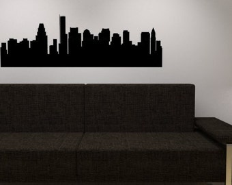 Boston Skyline wall decal  - Vinyl wall sticker decal - Boston wall vinyl