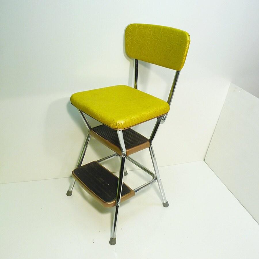 Marvelous Retro Step Stool Chair Chrome And Vinyl Attane Org Spiritservingveterans Wood Chair Design Ideas Spiritservingveteransorg
