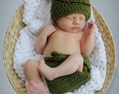 Crochet Pattern Frog Hat and Diaper Cover PDF
