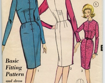 1960s Advance 3155 Basic Fitting Sheath Dress  Vintage Sewing Pattern Bust 31 UNCUT
