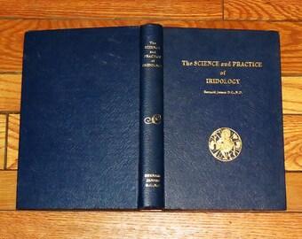 Quack Esoteric Medical Book -  Iridology - Vintage Hardbound Manual - Fully Illustrated - Diagnosis / Treatment Through the Human Eye