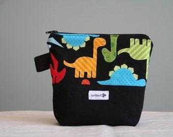 Reusable sandwich bag, reusable snack bag, ecofriendly, zipper, ProCare lined, back to school - Jurassic Bag