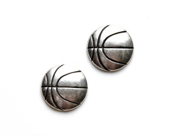 Basketball Cufflinks - Gifts for Men - Anniversary Gift - Handmade - Gift Box Included