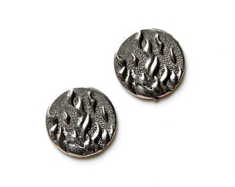 Fire Cufflinks - Gifts for Men - Anniversary Gift - Handmade - Gift Box Included