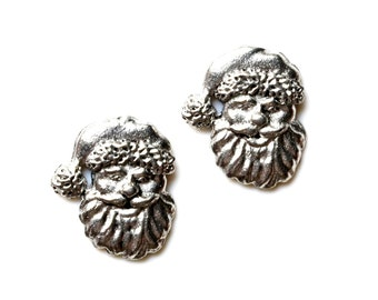 Santa Cufflinks - Gifts for Men - Anniversary Gift - Handmade - Gift Box Included