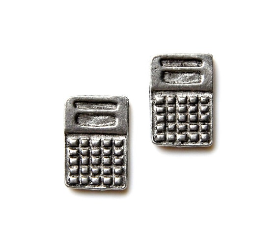 How Much Money Wedding Gift Calculator : Calculator Cufflinks Gifts for Men Anniversary Gift by Mancornas