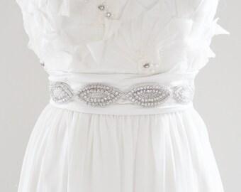 VIVIAN K. - Crystal Rhinestone Bridal Wedding Sash